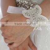 Wedding Bridal Wristlet,Rhinestone Applique Wedding Wrist Corsage