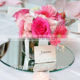 Round mirror centerpiece used for wedding decoration