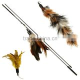 2016 luxury feather wand for cats(include two additonal refills) feather teaser                                                                                         Most Popular