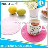 Cheap silicone wholesale FDA round silicone placemat