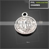 YP2893 casting products diy craft materials foreign coin disc pendant zinc alloy jewelry accessories