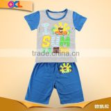 New style good material reasonable price made in china baby outfits kids clothes set july 4th patriotic design