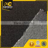 Black knitting Twill polyester cotton lycra denim fabric for jeans