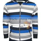 CVC yarn dye fleece jacket with brush hot sale in 2015