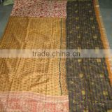 Traditional HandWork Indian Silk Sari Patchwork Kantha Throws~At Highly Discounted Prices