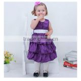 Baby girls christmas party dress kids dress birthday party princess girls dresses big bowknot dress for christmas 4 colors G34