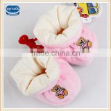 (305-1) Baby wear nova factory made winter new born embroidery bear plush shoes