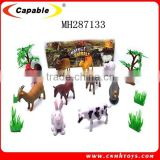 Funny farm animals set promotional toys