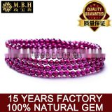 Fashion jewelry crystal jewelry wholesale hot Purple Rose 567A purple teeth Ukraine GARNET BRACELET MULTI ring on hand