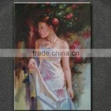 Modern open body sexy nude girl painting art