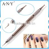 ANY Nail Art UV Gel Beauty Care Decorative Using Metal Handle Nail Art Dotting Nail Pen with 5 Extra Tips