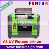 DX5 head A3 size UV digital flatbed printer with Led for CD Golf ball pen printing 1440dpi