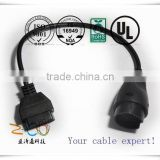 Automotive Wiring harness car OBD diagnostic Cable OBD 2 adaptor Mazda 17Pin to 16Pin obd2