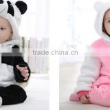 2016 winter new style panda animal modelling baby rompers children's clothing suits