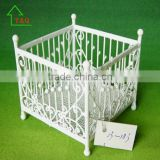 miniature doll house furniture iron wire wrought baby bed