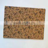 one color silk screen printing cork table mat, cork table pad beer cork placemat