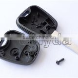 hot sale Peugeot 2 button remote key shell with VA2 blade without logo 50% free shipping
