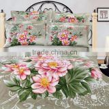 Promotion! Reactive Printed bed set 3d bedding set linen 100%cotton queen size/bedclothes duvet cover
