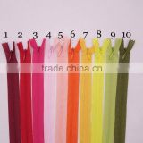 Invisible Zipper Length Material for Sewing Garment High Intensity Dress Pillow and Cushion Zipper Mixed Colorful