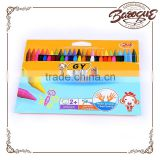High quality 24 pcs custom printed plastic colored wax crayons set in bulk,custom design shaped crayons colors