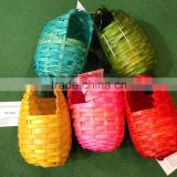super cheap colorful bamboo woven/weaving bird house/bird nest