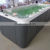 inground swimming pool fiberglass with LED waterfall