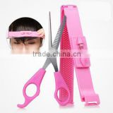 Korea DIY Hair Beauty Tools Cut Bangs Set Level Caliper With Tooth Scissor