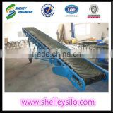 Mobile rubber belt conveyor for truck loading unloading