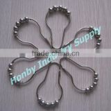 70mm Shiny Pear Shaped Sliding Shower Curtain Ring Hook