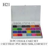 H21 20 PC CHALK CAKE SET