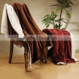 brown mink velvet fleece/sherpa wool polyester fleece super soft 2 layers thick wool blanket