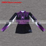 Sublimated popular crop top cheer uniform