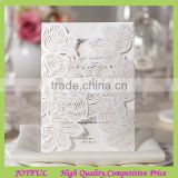 Elegant Laser Cut Pocket Wedding Invitation Card Lined Envelope