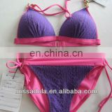 Sweety Purple and Pink Seamed Bikini