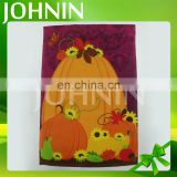 ODM 12*18 inch Polyester Double Layer Decorative Pumpkin Picture Holloween Garden Flag