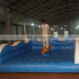 Exercise surfboard simulator rides inflatable game