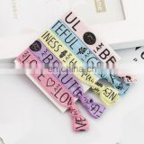 Customer colorfull Hair Accessories Elastic Ribbon Hair rope printed fold over hair tie Bracelet