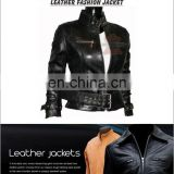 Cowhide/ Sheepskin/ Napa/ Goatskin Leather Jacket, Leather Jacket, High class leather jacket in black leather.