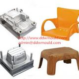 DDW Plastic Chair Injection Mold Plastic Household Furniture Mold exported to Mexico