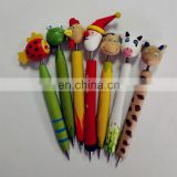 new creative wood ball pen and novelty animals pen