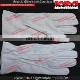 white cotton ceremonial gloves