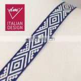 Fashionable jacquard ethnic ribbon trim for garment