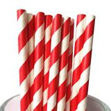 Paper Drinking Straws Cocktail Drinks 100pcs Tubes Party Birthday Supplies Decor