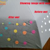 Water Sensitive Color Changing Cloth/Umbrella  (White change to colors)
