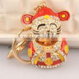 lucky cat Japanese Hot sale plated key chain ring with good quality and best price