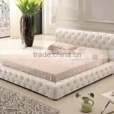 2016 new Bedroom furniture water bed price,folding+table,white leather bed for Christmas promotion                                                                         Quality Choice