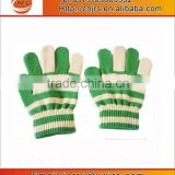 Factory wholesale latex cheap kids gloves,lovely striped acrylic knitting gloves,mini baseball gloves