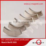 Segment shape n35h-n50h sintered neodymium magnet for air conditioning compressor professional manufacturer