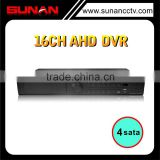 H.264 4Sata 16CH Realtime 720P AHD Hybrid DVR Support Free Client Software and Dahua Brands IPC