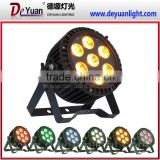 Outdoor lighting 7pcs 12W 6 in1 LED Waterproof PAR Light/ RGBWAUV LED outdoor Light waterproof led par